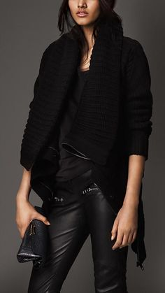 Burberry London Chunky Knit Wool Cashmere Jacket