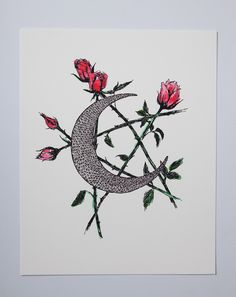 The Wild Unknown Moon and Star Print