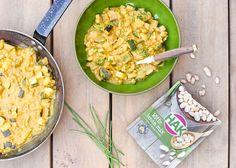 Vegetarische curry met witte bonen mix