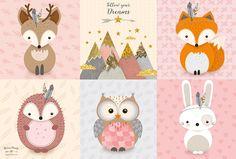 51 ideas baby girl nursery animals rugs for 2019 Woodland Animal Nursery, Woodland Baby, Baby Girl Birthday Theme, Baby Girl Nursery Decor, Baby Decor, Animal Rug, Kids Room Paint, Baby Girl Gifts, Nursery Prints