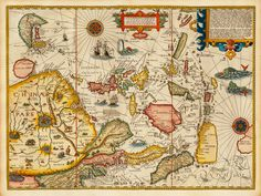 Old European map of Asia, 1596, Linschoten. East at the top.