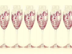 HandPainted Personalized Champagne Flutes by HandPaintedPetals