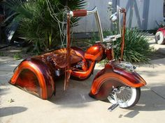 Technically its a bicycle (tricycle) with three wheels Cool Bicycles, Cool Bikes, Rat Rods, Kids Trike, Lowrider Bicycle, Trike Bicycle, Lowrider Toys, Cruiser Bicycle, Traction Avant