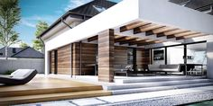 Find home projects from professionals for ideas & inspiration. Projekt domu HomeKONCEPT 28 by HomeKONCEPT Modern House Plans, Modern House Design, Single Floor House Design, Family Room Addition, Facade House, Outdoor Rooms, Exterior Design, Planer, Living Room Designs