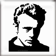 JAMES DEAN STENCIL - reusable stencil  from The Stencil Studio Ltd