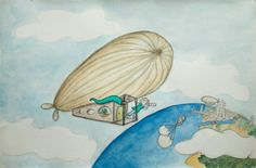 träumen . to dream . soñar (daily sketch)