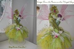 Image detail for -Fairy Dress Form© Online Class: With Sherri B. Larp, Dress Form Mannequin, Fantasy Costumes, Fairy Costumes, Fairy Crafts, Fairy Clothes, Fake Flowers, Tulle Flowers, Barbie