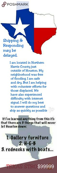 Due to Harvey Our family is safe and dry. So many were less fortunate. We are thankful for everyone who helped and are still helping. From performing rescues, volunteering their homes, helping at shelters for both displaced people and animals to donating items or your hard earned money to help them. I am doing the same. This may delay response times and possibly shipping times. (Plus I have no internet at my home still!) But I am here! Please have patience with me😀 Other