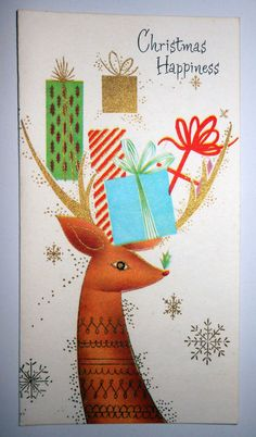 Vintage 50s Christmas Card
