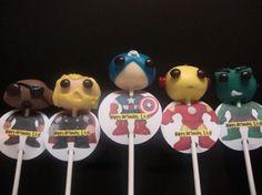Marvel's Avengers Cake Pops « KC Bakes ~ Oh my goodness! Avenger Cupcakes, Avenger Cake, Superhero Cookies, Superhero Cake, Fancy Cakes, Cute Cakes, Baby Avengers, Marvel Avengers, Marvel Cake