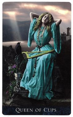Queen of Cups from the Bohemian Gothic Tarot.  Absolutely stunning deck from Prague.  Highly recommended.
