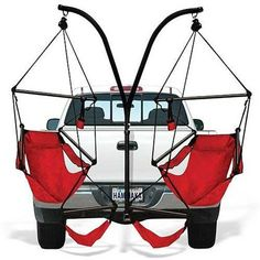 The Hammaka Trailer Hitch Stand and Hammaka Chair Combo comes ready to mount on your truck or RV so you can relax anywhere you go. This package includes two Hammaka air chairs so you can enjoy all sor Outdoor Fun, Outdoor Camping, Camping Gear, Camping Hammock, Truck Camping, Camping Stuff, Toyota Tundra, Toyota Tacoma, Plywood Furniture