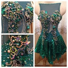 It's finished!! #ballroomdance #ballroomdress #dancesport #fashion #emerald #swarovski #loveloraine