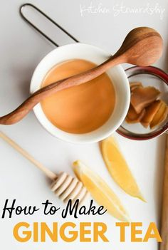 Using fresh ginger, you can make the most simple ginger tea recipe without any special equipment - chase those cold bugs away!
