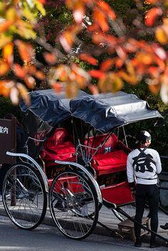Japanese rickshaw in Kyoto