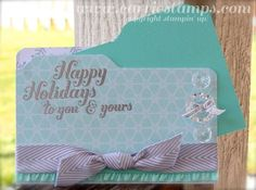 Really clear instructions for making file folder cards with the Envelope Punch Board by Carrie Stamps ~ I like the coordinating color tabbed insert