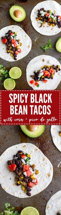 Spicy black bean tac