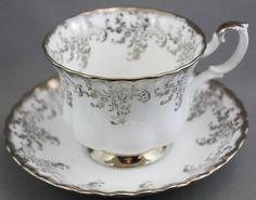Royal Albert Tea Cup and Saucer Silver Wedding | eBay