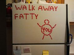 Haha...i wonder how well this works... My fiance would totally put this on our fridge :)