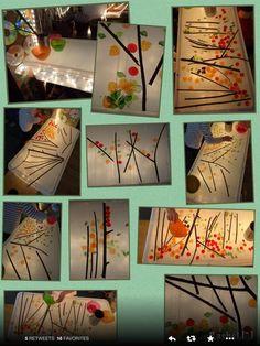 making autumn trees on light table Nature Activities, Autumn Activities, Autumn Eyfs, Overhead Projector, Licht Box, Tree Study, Light Board, Fall Preschool, Creative Curriculum
