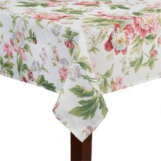 Waverly® Forever Yours Pink Floral Tablecloth
