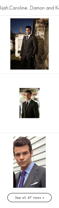 """Elijah,Caroline, Damon and Kol"" by flamingfirewolf ❤ liked on Polyvore featuring the originals, tvd, vampire diaries, home, home decor, daniel gillies, pics, people, the vampire diaries and star home decor"