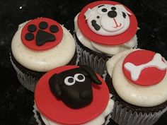 Once Upon a Cupcake - Custom Cupcakes from Orange County, CA - Wedding / Large Event cupcakes Cupcake Dog, Dog Cupcakes, Animal Cupcakes, Custom Cupcakes, Birthday Cupcakes, Baby Party Foods, Holiday Cupcakes, Homemade Dog Treats, Doggie Treats