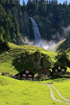 Waterfall, Klausenpass, Switzerland - STARLING EARTH