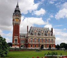 City Hall & Belfry of Calais, France.