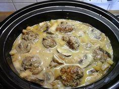 Köttbullar mit Champignons im Slow Cooker