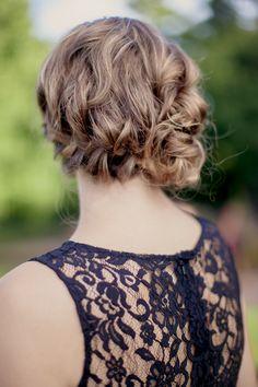 Elegant bridesmaid wedding hair