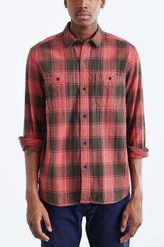 Koto Washed Buffalo Plaid Button-Down Shirt