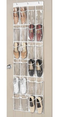 Over-the-Door-Shoe-Organizer | Easy Shoe Storage Ideas for Small Spaces | Easy Closet Organization Ideas for the Home