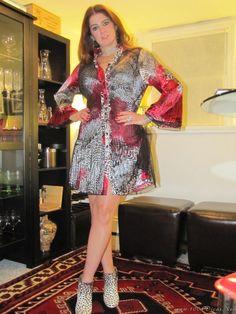 Look Do Dia Vestido  estampa animal# Animal print dress