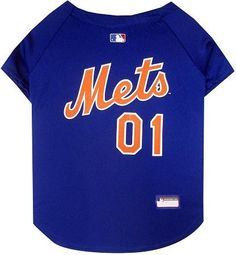 New York Mets Baseball Dog Jersey XS