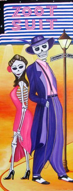 Dia de Los Muertos, Zoot Suit, Acrylic