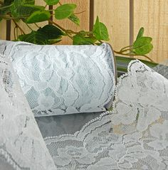 Lace Ribbon White 4in x 10yds