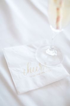 Bride Spotlight | Kadie Stark | Poeme custom napkins | cheers | destination wedding #realwedding