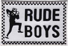 Rude Boys Rectangle Black & White Embroidered Patch Approx Embroidered patches can either be sewn or ironed on Pin And Patches, Iron On Patches, Guzma Pokemon, Organization Xiii, Xavier Samuel, Oingo Boingo, Badge, The Adventure Zone, Greaser
