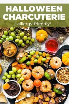 An allergy-friendly Halloween Charcuterie Board will kid-friendly sweets and treats! Learn how to build an easy Halloween charcuterie board with all gluten-free items, both sweet and savory. Gf Recipes, Real Food Recipes, Snack Recipes, Gluten Free Recipes, Healthy Recipes, Cookie Dough Desserts, Edible Cookies, Edible Cookie Dough, Gluten Free Graham Crackers