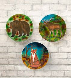 Use our Lighted Recycled Metal Woodland Wall Art to light up a porch, sunroom or deck area.Artisans in Bali have hand-crafted each of these works… Recycled Metal Art, Woodland Decor, Yard Art, Hearth, Wall Art Decor, Accent Decor, Recycling, Hand Painted, Bali