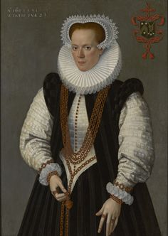 Frans Pourbus the Younger: Marie de Huelstre. painted 1591, oil on Panel