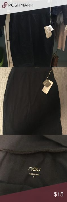 PENCIL SKIRT Never worn and still has tags! NAU black pencil skirt! Perfect for any occasion! Nau Skirts Pencil