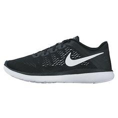 timeless design 841e9 89a61 Nike Flex 2016 Run Gs Big Kids 834275-001 Black Mesh Running Shoes Youth Sz