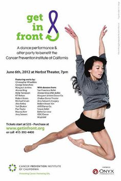 Official poster for the Get in Front Performance June 6, 2012
