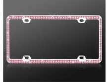 Add style to your car with Pink Crystal License Plate Frame available at CarDecor.com.