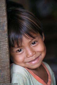 Child from Santa Rita village of returnees, Peten, Guatemala. Cutie!!!