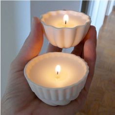 Porcelain Soy Candle Jello Mold Tea Lights by RevisionsDesign, $20.00