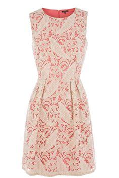 Dresses   Neutral FLURO LINED LACE DRESS   Warehouse