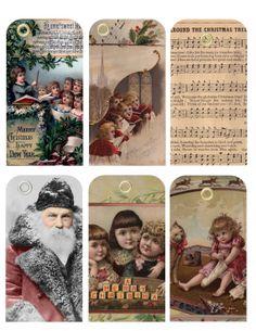 Victorian Christmas Gift Tags